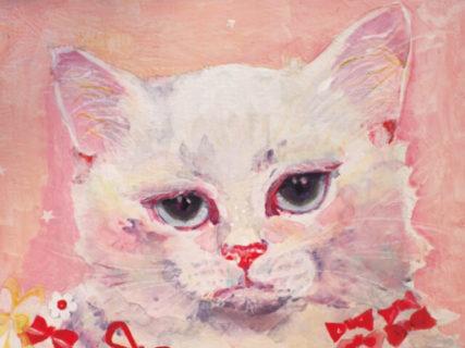 店内は見渡す限りネコ♪ 昭和レトロなカフェで楽しむ猫の絵画展「猫そんなに好きじゃない展」大阪で開催中