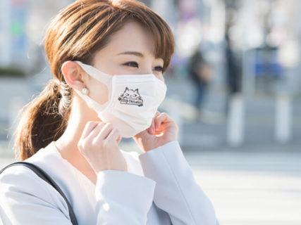地味な白マスクも猫のイラストで可愛くデコレーション♪マスク専用デザインスタンプ「マスタ」