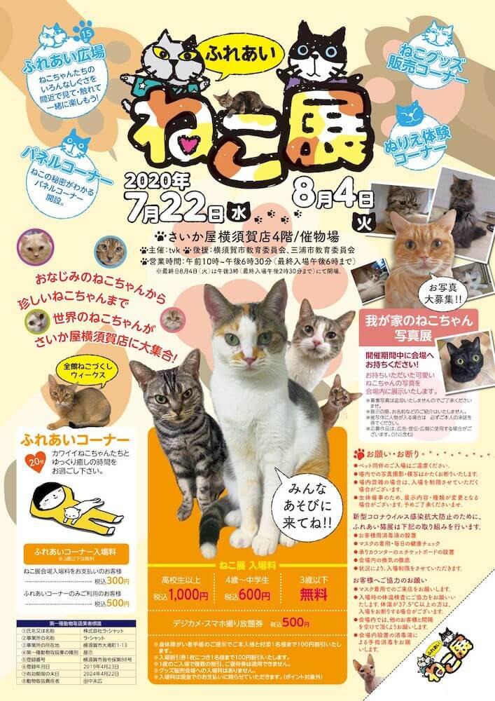 世界中の珍しい猫と触れ合える「ふれあいねこ展」 in  さいか屋 横須賀店