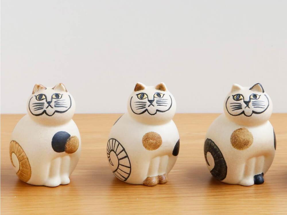 猫をモチーフにした陶芸作品「ねこのぶち(MIX)」 by LISA LARSON(リサ・ラーソン)