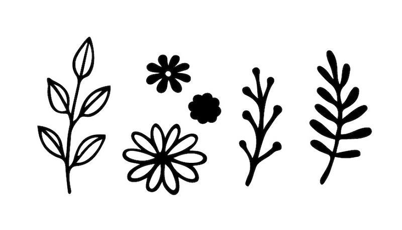 マスク専用デザインスタンプ「マスタ」、植物をモチーフにしたデザイン