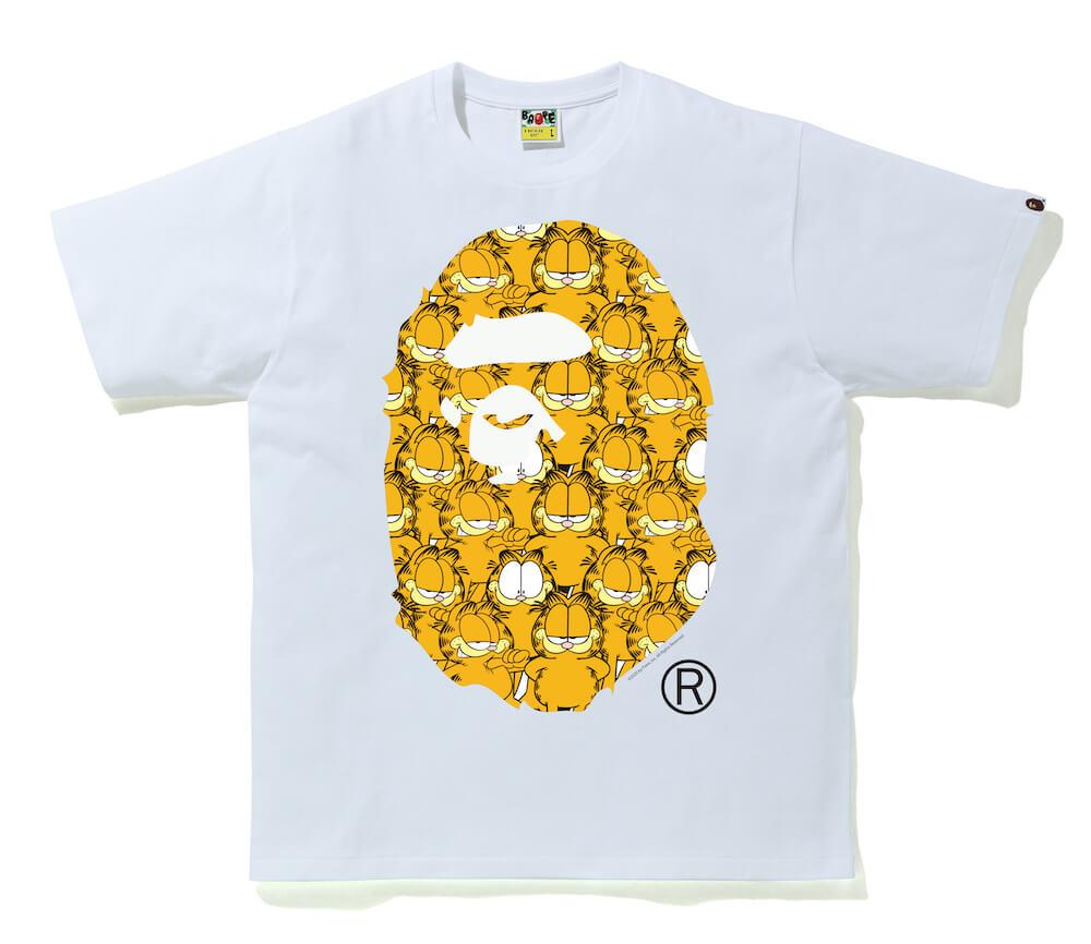 GARFIELD(ガーフィールド)のイラストが密集したコラボTシャツ by A BATHING APE(ア・ベイシング・エイプ)