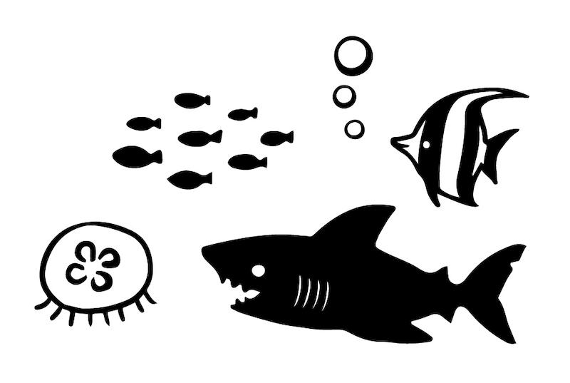 マスク専用デザインスタンプ「マスタ」、海の生物をモチーフにしたデザイン