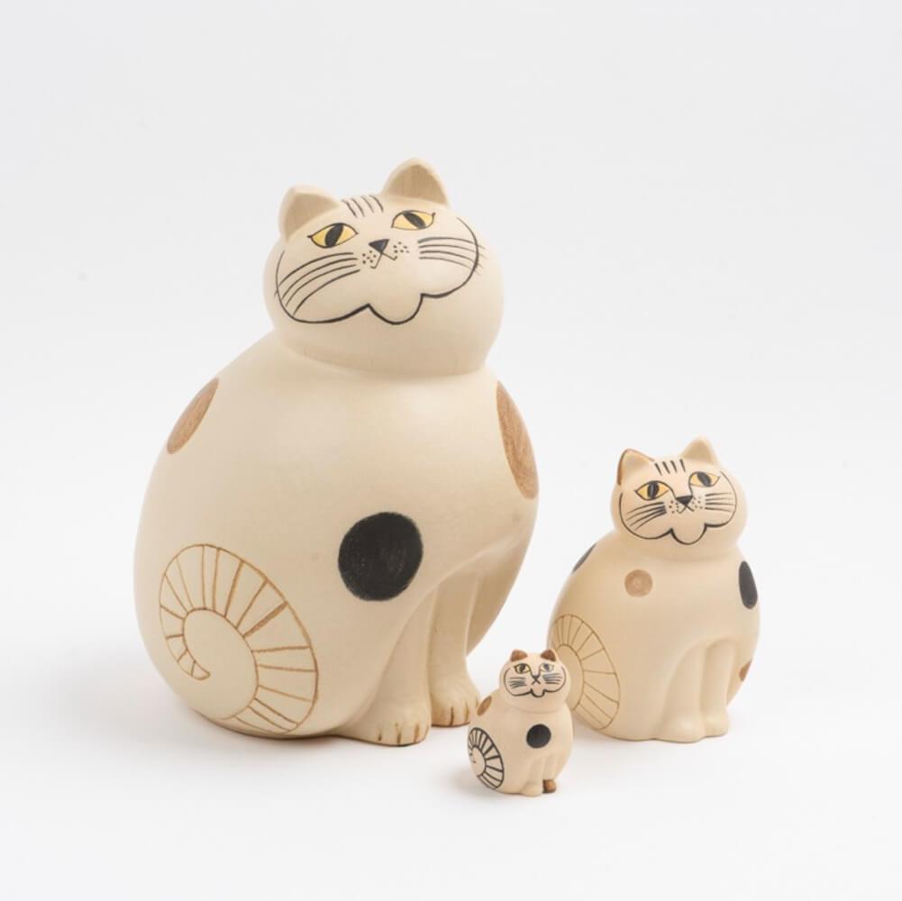 猫をモチーフにした陶芸作品「ねこのぶち(MIX)」全3種類 by LISA LARSON(リサ・ラーソン)