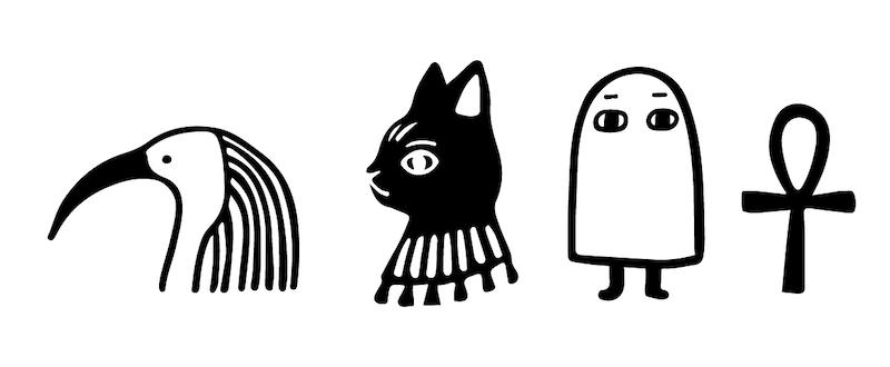 マスク専用デザインスタンプ「マスタ」、エジプトをモチーフにしたデザイン