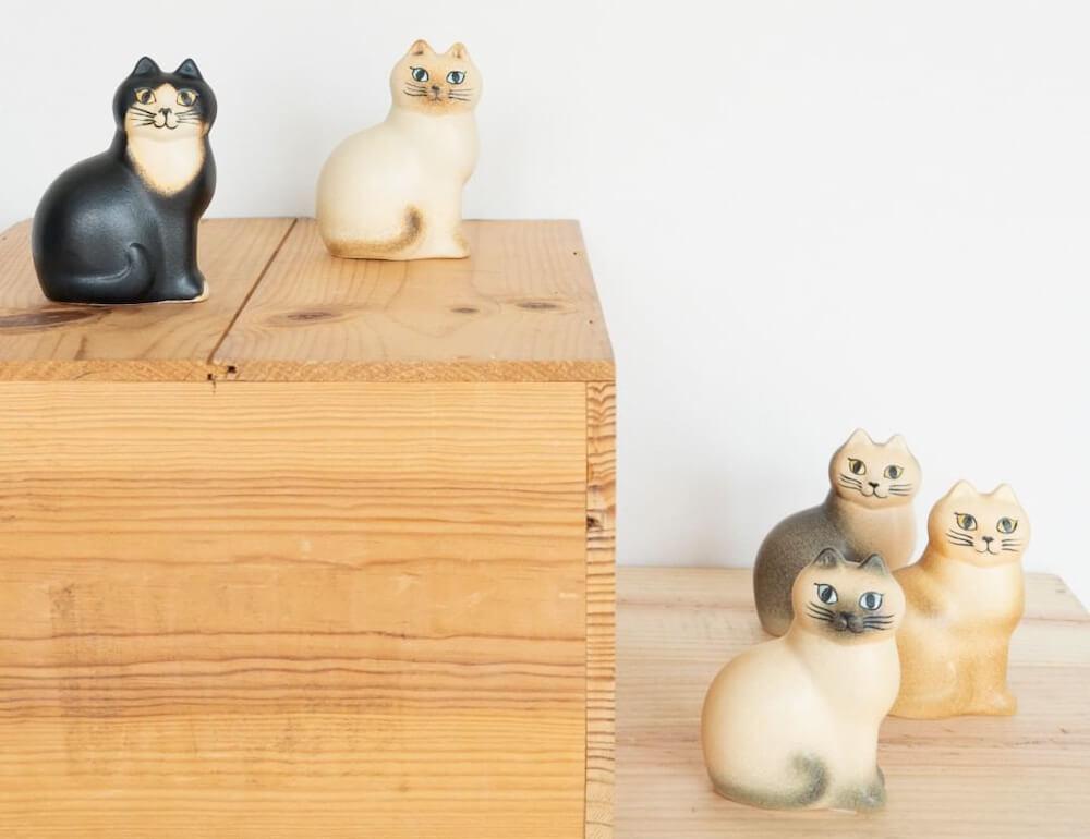 猫をモチーフにした陶芸作品「猫のマンズ」ミニサイズ by LISA LARSON(リサ・ラーソン)