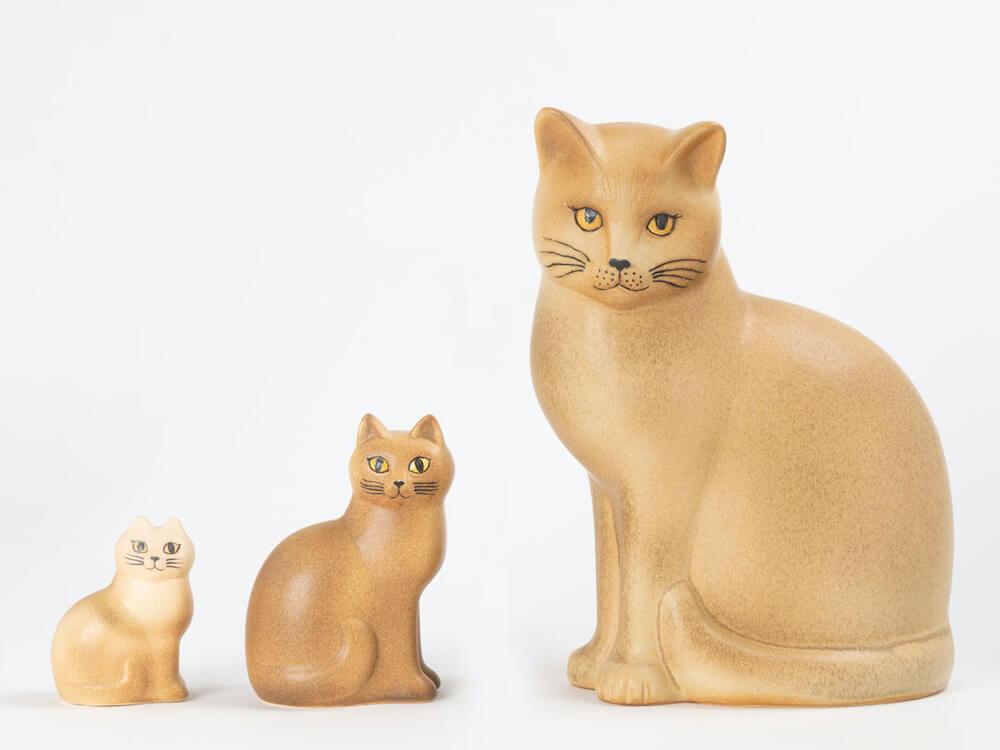 猫をモチーフにした陶芸作品「猫のマンズ」全3サイズ by LISA LARSON(リサ・ラーソン)