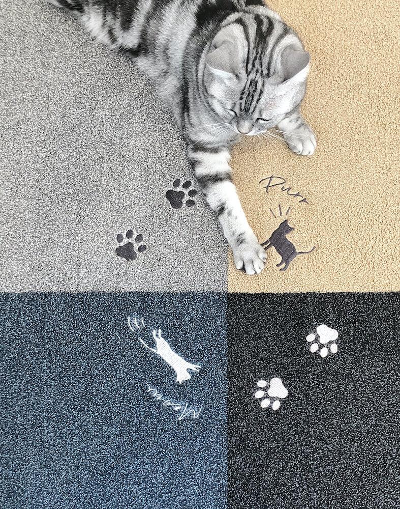 猫用のラグ「猫の箱庭 Rugtasu タイルラグ」を真上から見たイメージ