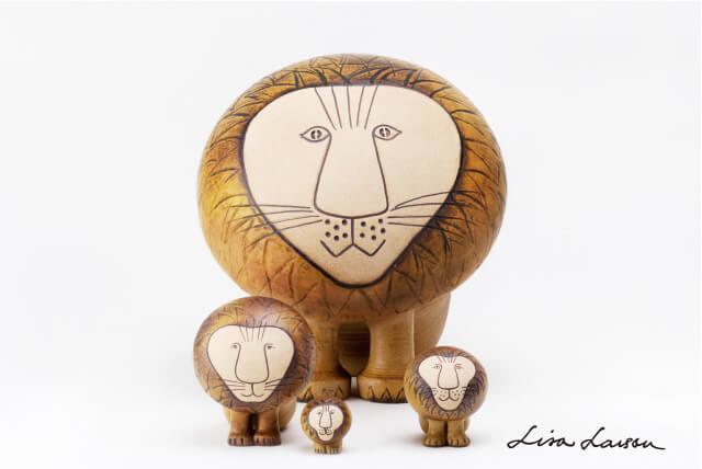 AFRICAシリーズのライオンをモチーフにした陶芸作品 by LISA LARSON(リサ・ラーソン)