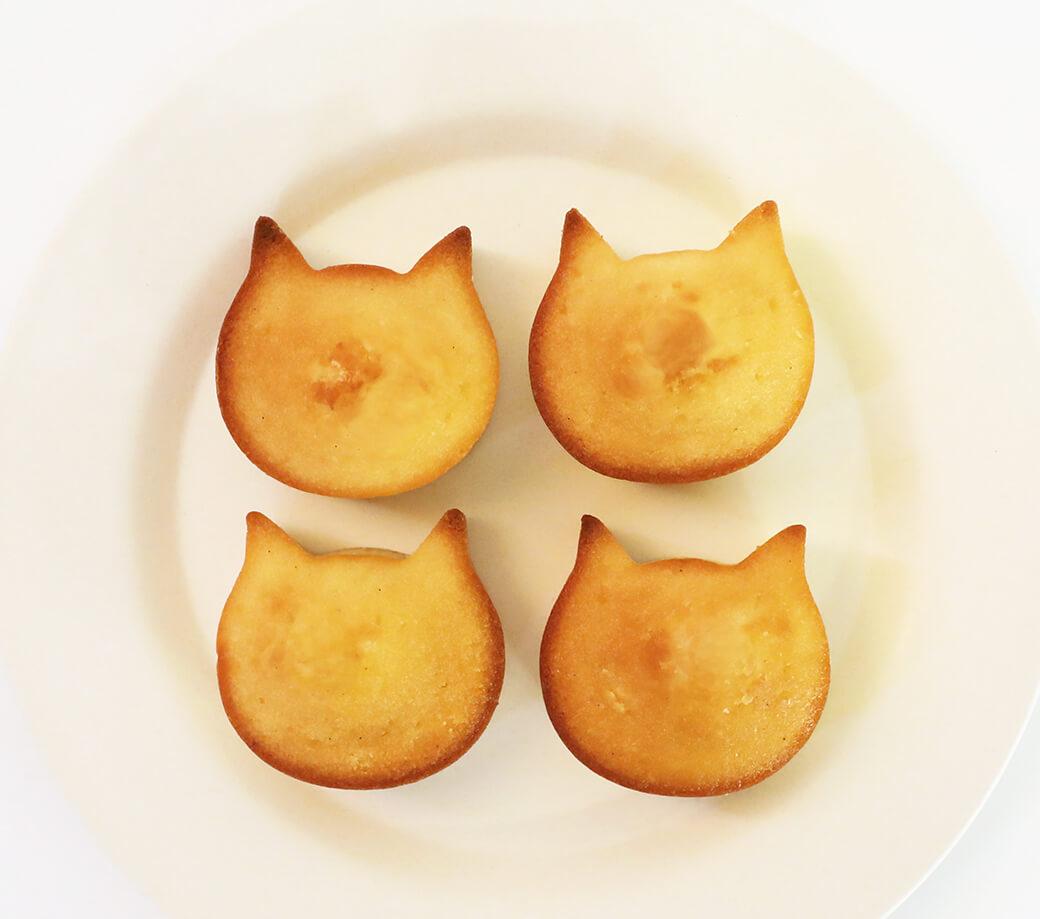 猫型のフィナンシェ「ふぃにゃんシェ」