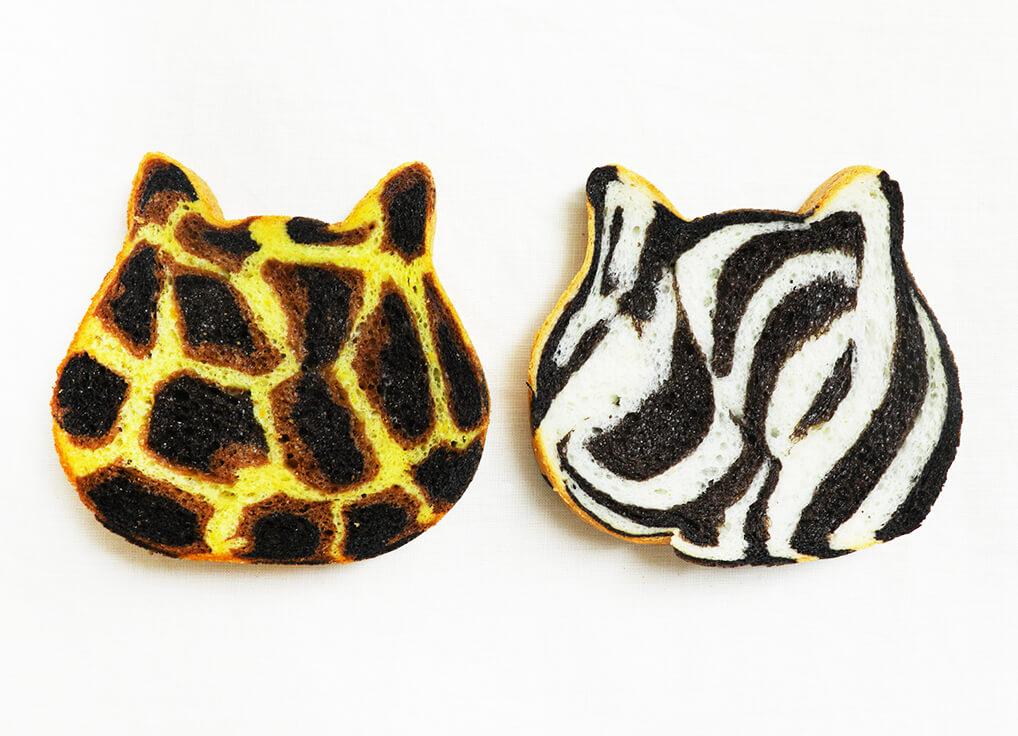 ねこねこ食パン初のアニマル模様商品「ねこねこ食パン ヒョウ」「ねこねこ食パン ゼブラ」