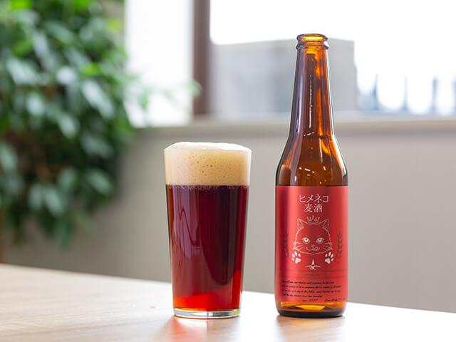 猫のイラストがデザインされた地ビール「ヒメネコビール」 by 金澤麦酒