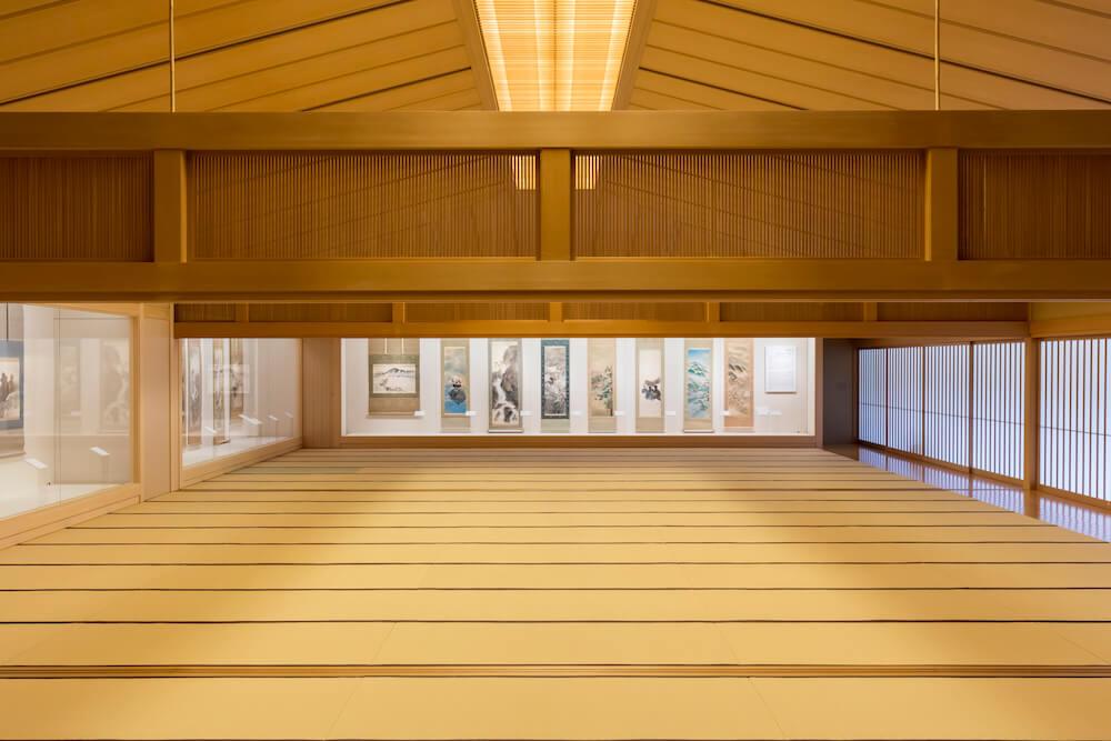 嵯峨嵐山文華館の2Fにある120畳の大広間、畳ギャラリー