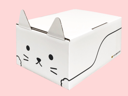 こんな荷物が届いたら嬉しくない?ヤマト運輸から再利用できる猫型の梱包資材「ネコ耳BOX」が登場