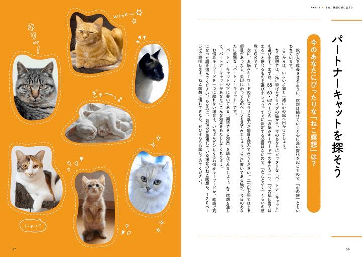 「ねこ瞑想」でイメージする猫を選択する方法を解説したページ