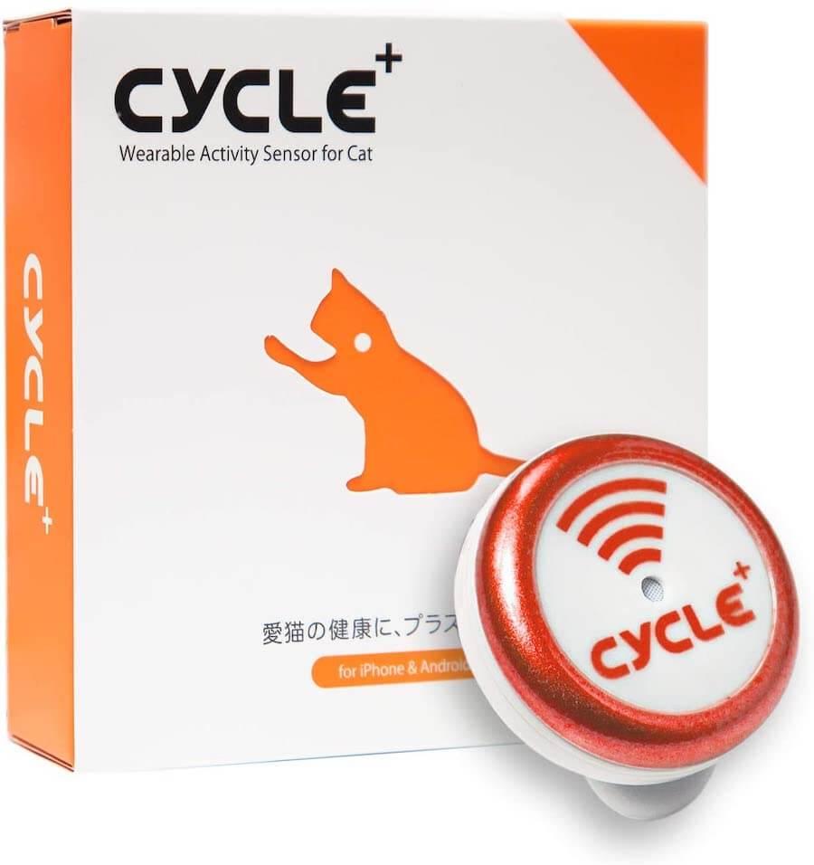 猫のウェアラブル活動量計「Plus Cycle(プラスサイクル)」の製品イメージ