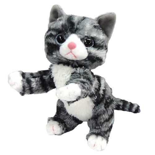 いっしょがいいね ぬいぐるみビーンズ グレー猫