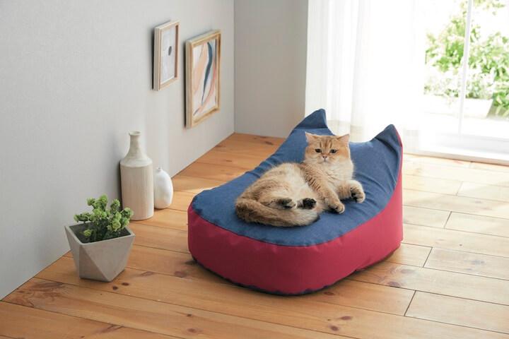 猫用のベッド「にゃんこビーズクッション」 by Sippole(しっぽる)