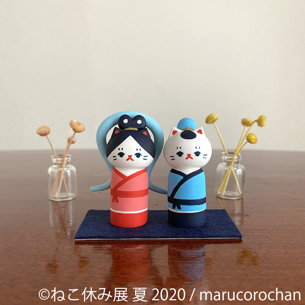 「marucoro chan」の立体化した猫作品