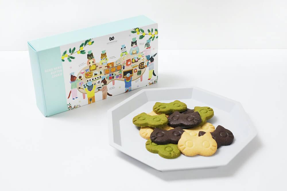 ねこねこバタークッキーの製品&盛り付けイメージ