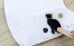 マスクに当ててこすると…猫が現れるッ!布用転写シール「irodo(イロド)」の新作が登場