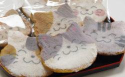 猫の毛並みまで表現したおせんべいが可愛い!門仲の老舗菓子店が作る「福々どうぶつ煎餅」