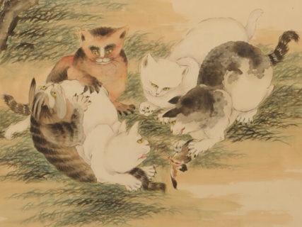 ネコと牡丹の絵には繁栄の願いが込められていた!「耄耋」をテーマにした中国絵画の展覧会が観峰館で開催