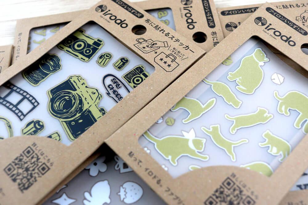 布用転写シール「irodo(イロド)」の第六弾となる新製品のパッケージ