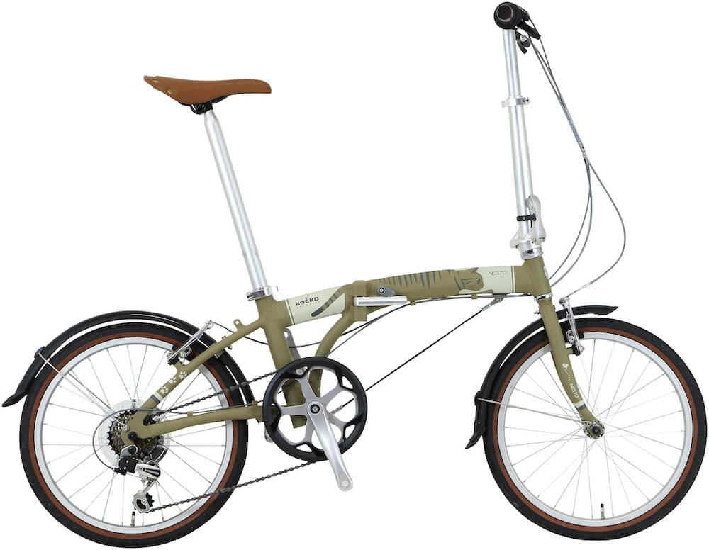 猫好きのための折り畳み自転車「kocka (コチカ)」キジトラバージョン