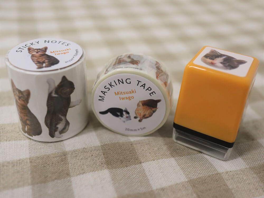 「岩合光昭写真展 こねこ」の会場で販売されるマスキングテープ&マスキングスタンプ
