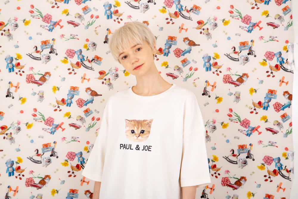 猫デザインのトップス「ヌネット&ロゴ プルオーバーニット トップス」 by PAUL & JOE