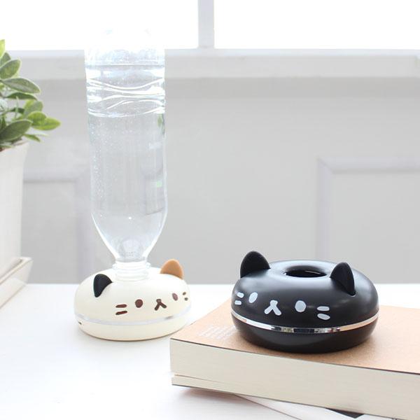 猫のドーナツのような見た目をした猫型ポータブル加湿器「PePET(ペペット)」