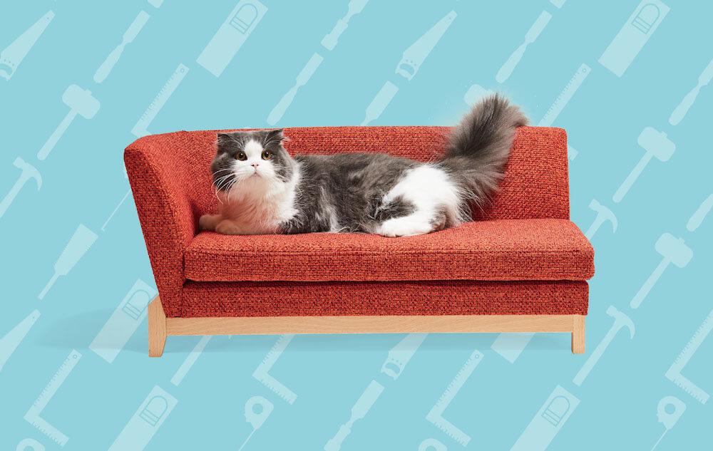 ネコ家具「PISOLINO Sofa(片肘)」 by 平田椅子製作所