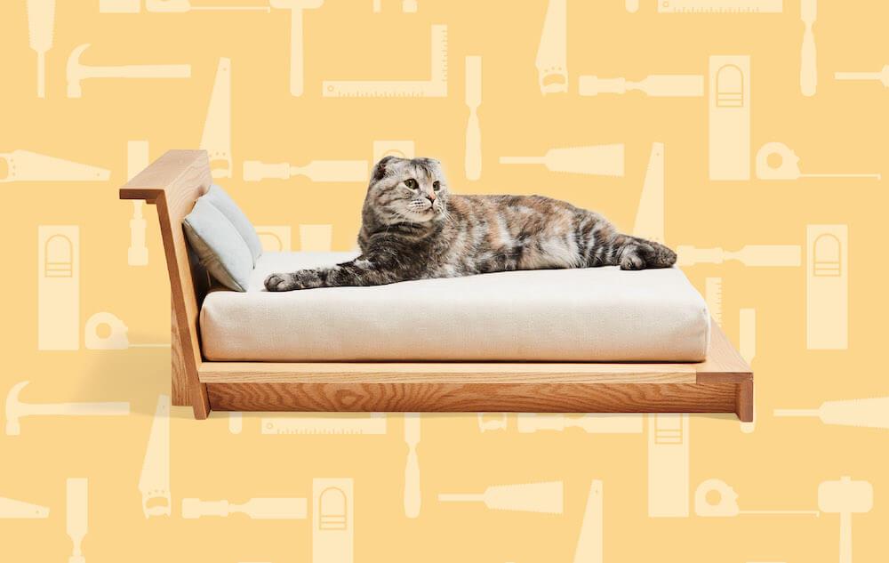ネコ家具「CARAMELLA A Type Bed」 by ヒラシマ