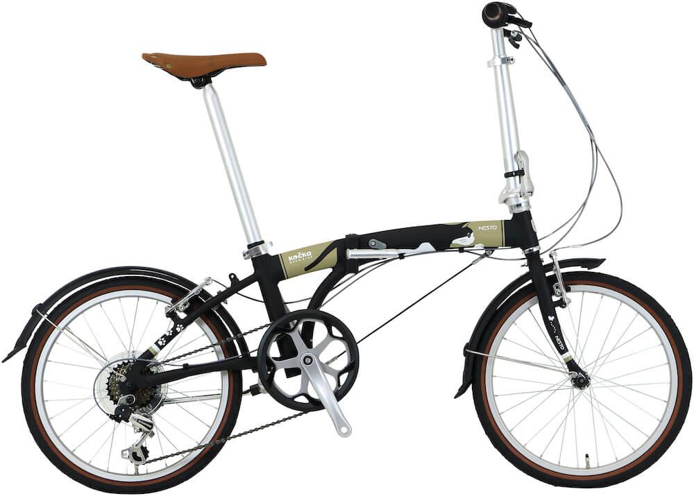 猫好きのための折り畳み自転車「kocka (コチカ)」クロ猫バージョン