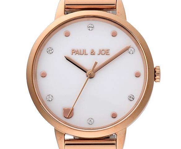 ねこデザインの腕時計「Print Strap Series(プリントストラップシリーズ)」のダイヤルby PAUL & JOE