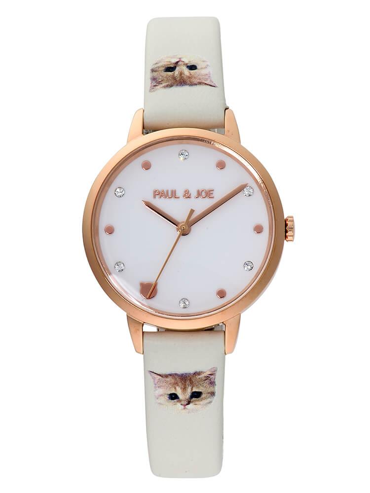 猫デザインの腕時計「Nounette ストラップ」 by PAUL & JOE