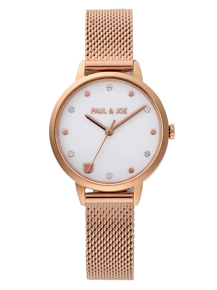 猫デザインの腕時計「Nounette メッシュストラップ」 by PAUL & JOE