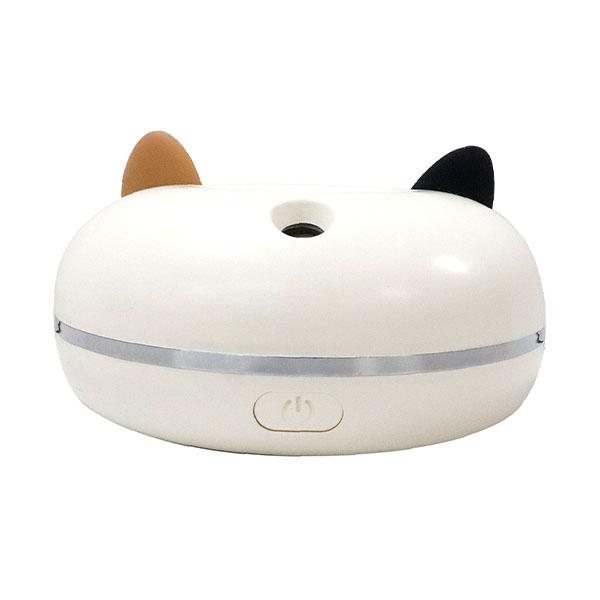 猫型ポータブル加湿器「PePET(ペペット)」の背面にある水噴霧用の穴
