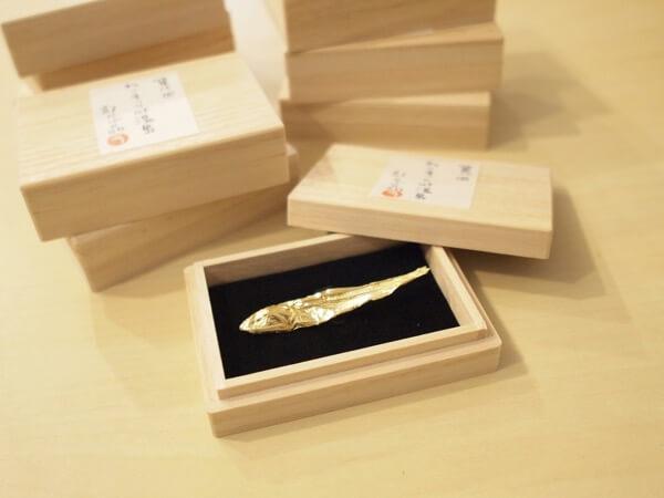 ねこまつり at 湯島のスタンプラリーでもらえる記念品「金の煮干し」