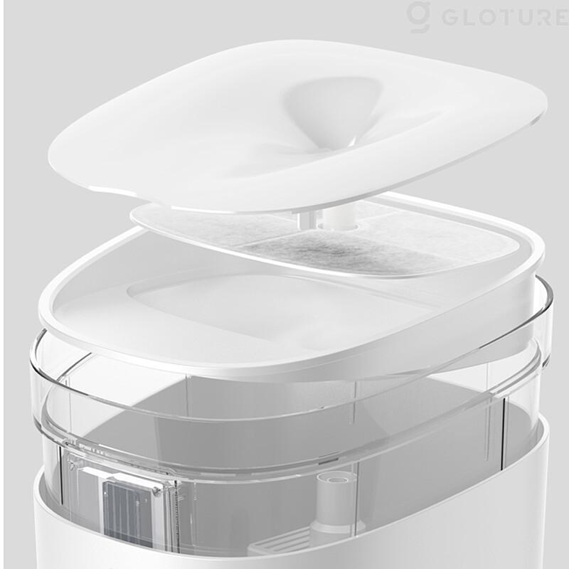 スマート給水器「Fresco Ultra(フレスコ ウルトラ)」のトレイやフィルター取り外しイメージ