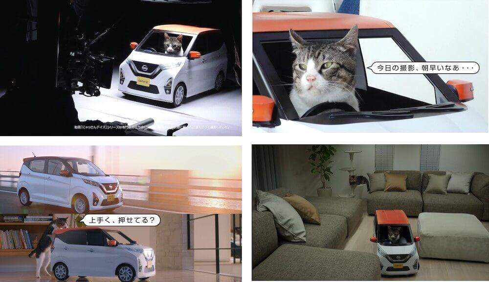猫用の軽自動車 「にゃっさんデイズ」WEBムービーのメイキング映像