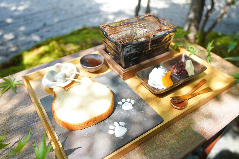 猫食パン付きのeXcafe(イクスカフェ)の朝食メニューセット「イクスカフェの朝ごはん」