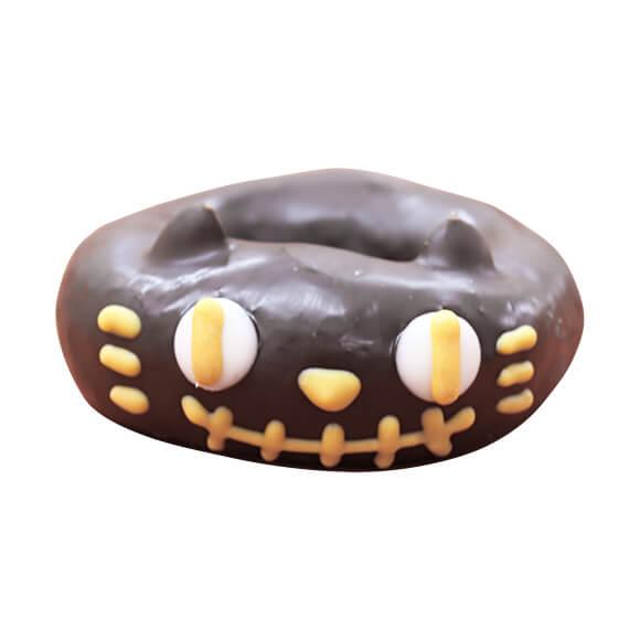 おばけにゃんこをイメージしたドーナツ(スイートチョコ味) by イクミママのどうぶつドーナツ!