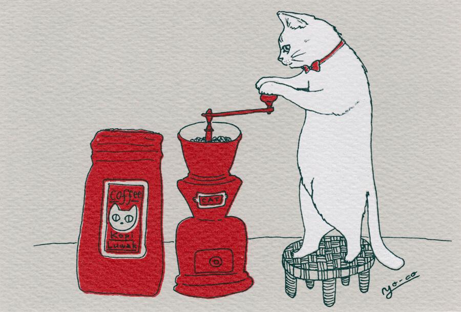 猫のイラスト by YO-CO