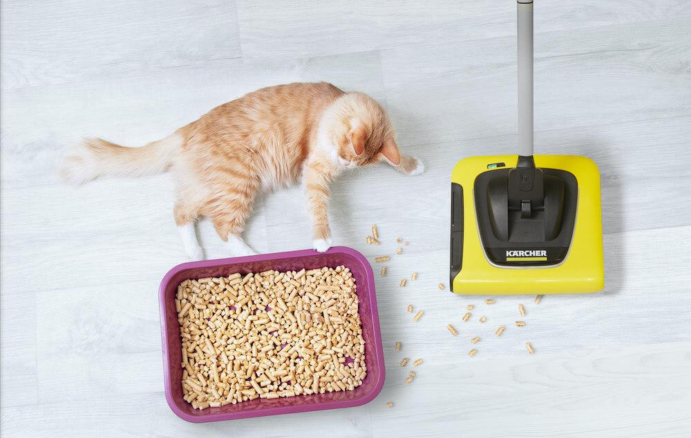 ペットフードや猫砂などの掃除に役立つケルヒャーのスティッククリーナー KB 5