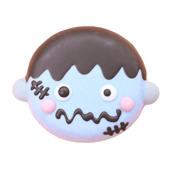 フランケンをイメージしたドーナツ(ホワイトチョコ味) by イクミママのどうぶつドーナツ!