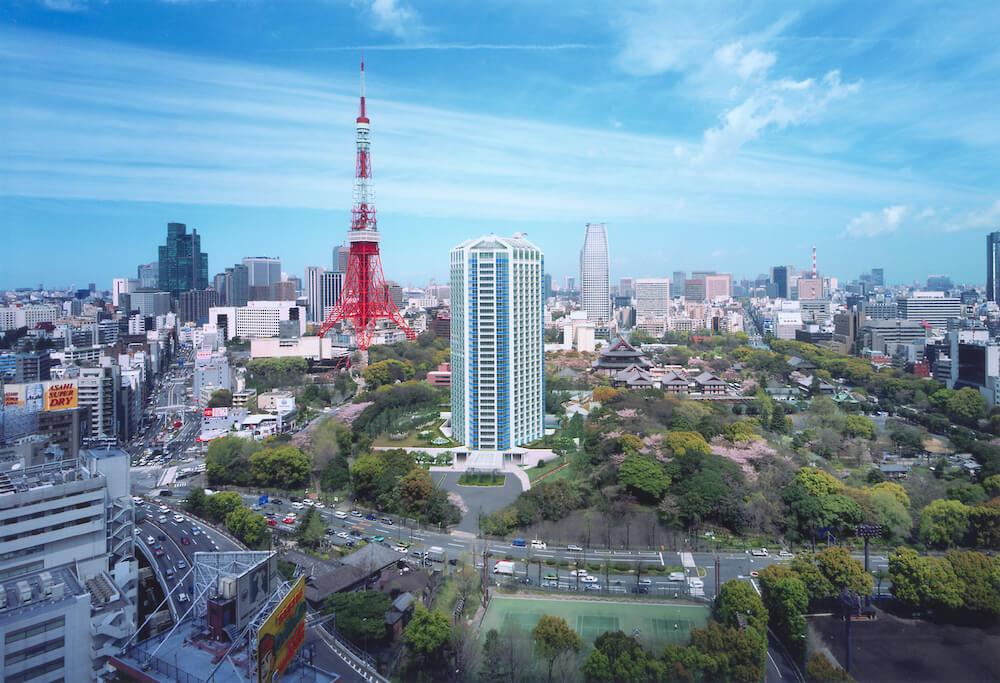東京タワー近くのホテル「ザ・プリンス パークタワー東京」の外観イメージ