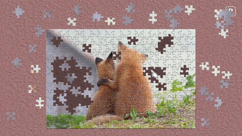 「もふ旅」北海道の野生動物 Nintendo Switch用のジグソーパズルゲーム『ジグソーマスターピース』