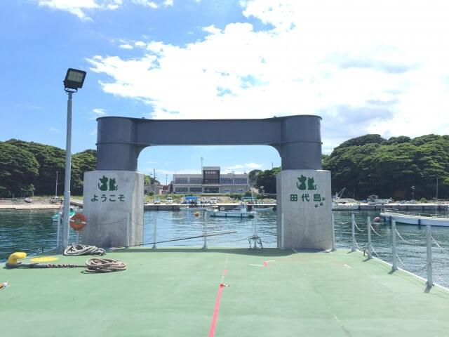 宮城県の猫島・田代島の港のイメージ写真